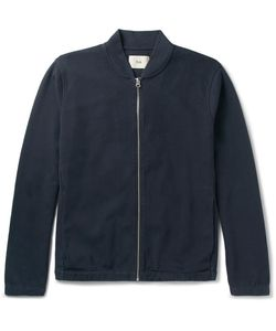 Folk | Cotton-Blend Piqué Bomber Jacket