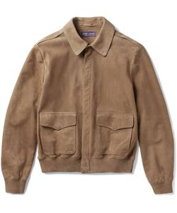 Ralph Lauren Purple | Label Henfield Suede Aviator Jacket