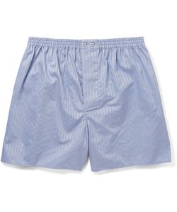 ZIMMERLI | Striped Mercerised Cotton Boxer Shorts