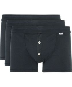 Schiesser | Karl Heinz Three-Pack Cotton-Jersey Boxer Briefs