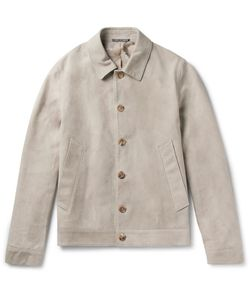 RICHARD JAMES | Slim-Fit Suede Blouson Jacket