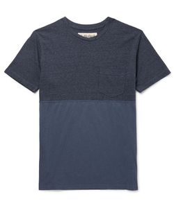 MOLLUSK | Slim-Fit Panelled Cotton-Blend And Jersey T-Shirt