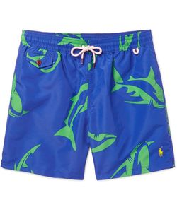 Polo Ralph Lauren | Traveler Mid-Length Shark-Print Swim Shorts