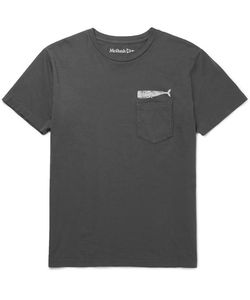 MOLLUSK | Olde Whale Slim-Fit Printed Cotton-Jersey T-Shirt