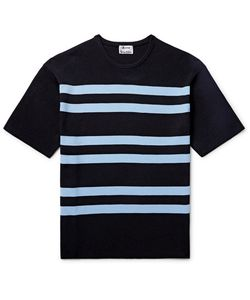 Acne Studios | Striped Ribbed-Knit T-Shirt