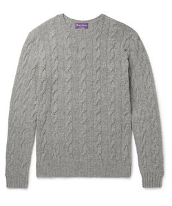 Ralph Lauren Purple | Label Cable-Knit Cashmere Sweater