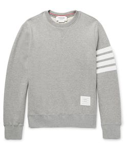 Thom Browne | Striped Loopback Cotton-Jersey Sweatshirt