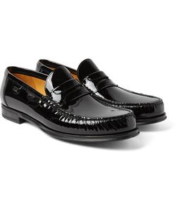 Dolce & Gabbana   Patent-Leather Penny Loafers