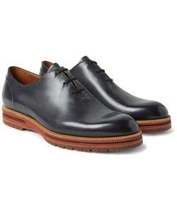 BERLUTI | Alessio Whole-Cut Polished-Leather Oxford Shoes