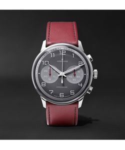 Junghans | Meister Driver Chronoscope Stainless Steel And Leather Watch