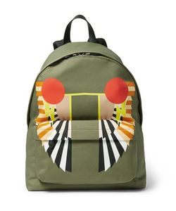 Givenchy | Leather-Trimmed Printed Canvas Backpack