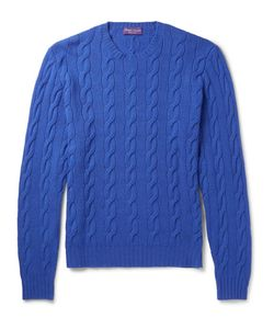 Ralph Lauren Purple | Label Slim-Fit Cable-Knit Cashmere Sweater