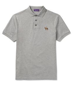 Ralph Lauren Purple | Label Mercerised Cotton-Piqué Polo Shirt