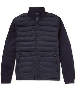 Ralph Lauren Purple | Label Quilted Shell And Wool-Blend Jacket