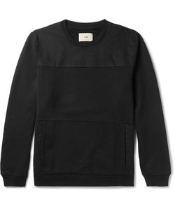 Folk | Panelled Cotton-Twill And Loopback Cotton-Jersey Sweatshirt
