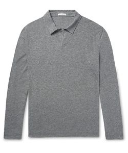 James Perse | Mélange Cotton-Blend Polo Shirt