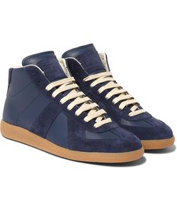 Maison Margiela | Replica Suede And Leather High-Top Sneakers