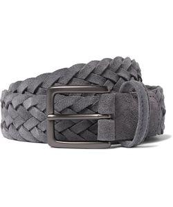 ANDERSON'S | 3cm Woven Suede Belt