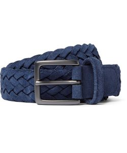 ANDERSON'S | 3cm Woven Suede Belt