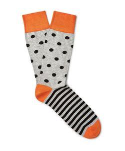 Corgi | Patterned Cotton-Blend Socks