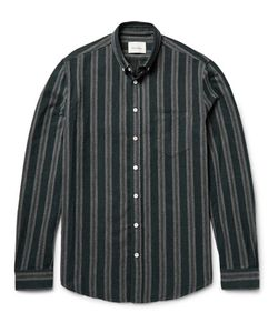 Steven Alan | Masters Button-Down Collar Striped Brushed-Cotton Shirt