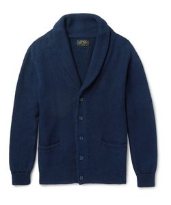 Beams Plus | Shawl-Collar Linen And Cotton-Blend Cardigan