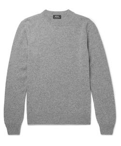 A.P.C. | Mélange Wool And Cashmere-Blend Sweater