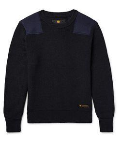 Neighborhood   Commander Panelled Ribbed Wool Sweater