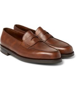 JOHN LOBB | Lopez Pebble-Grain Leather Penny Loafers
