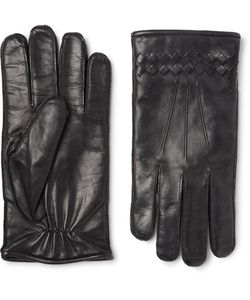 Bottega Veneta | Cashmere-Lined Intrecciato Leather Gloves