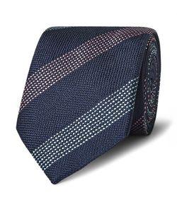 RICHARD JAMES | 7.5cm Striped Woven Silk Tie