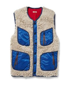 Kapital | Shell-Trimmed Faux Shearling Gilet