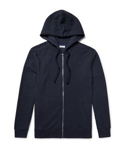 Schiesser | Anton Waffle-Knit Cotton And Linen-Blend Zip-Up Hoodie