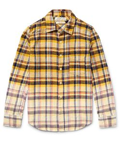 Remi Relief | Slim-Fit Dégradé Checked Cotton-Flannel Shirt