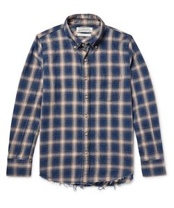 Remi Relief | Button-Down Collar Checked Cotton-Flannel Shirt