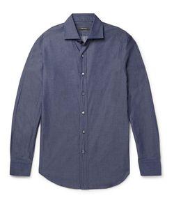 BERLUTI   Slim-Fit Cutaway-Collar Cotton-Poplin Shirt