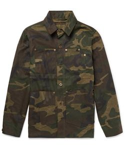 Freemans Sporting Club | Camouflage-Print Coated-Cotton Jacket