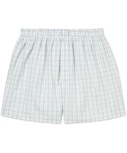 Sunspel | Checked Cotton Boxer Shorts