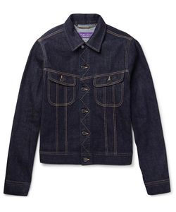 Ralph Lauren Purple | Label Trucker Slim-Fit Selvedge Stretch-Denim Jacket