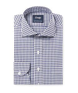 Drake's | Slim-Fit Gingham Cotton-Poplin Shirt