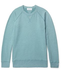 Velva Sheen | Slim-Fit Washed Fleece-Back Cotton-Blend Jersey Sweatshirt