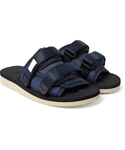 Suicoke | Moto Suede Nylon And Webbing Sandals