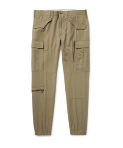 Ralph Lauren Purple | Label Tapered Wool-Gabardine Cargo Trousers
