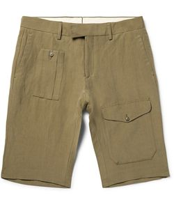 Ralph Lauren Purple | Label Linen And Silk-Blend Cargo Shorts