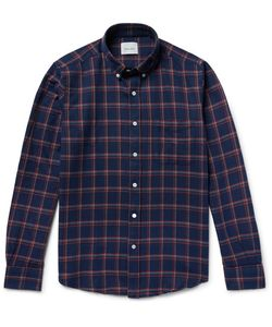 Steven Alan | Button-Down Collar Checked Brushed-Cotton Shirt