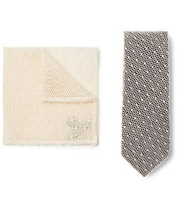 Marwood | Cotton-Lace And Silk-Twill Tie And Pocket Square Set