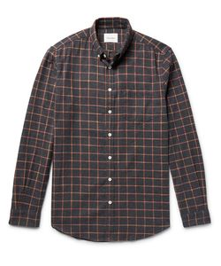 Steven Alan | Masters Button-Down Collar Checked Brushed-Cotton Shirt
