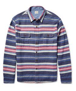 Faherty | Durango Cpo Striped Cotton Overshirt