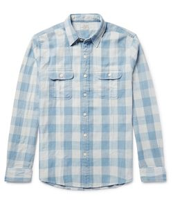 Faherty | Slim-Fit Buffalo-Checked Cotton-Twill Shirt