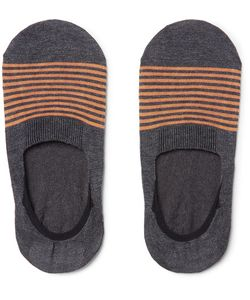 PANTHERELLA | Striped Cotton-Blend No-Show Socks